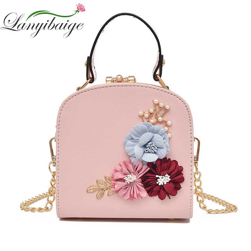 Vintage Women Bag Flowers Shell Women Tote Leather Clutch Bag Ladies Handbags  Luxury Brand Messenger Bags 097a53787096