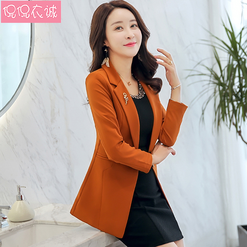 Women Blazers And Jacket 2017 Single Button Slim Leisure Office Lady Notched Long Sleeved Female Suit Formal Jackets Plus Size