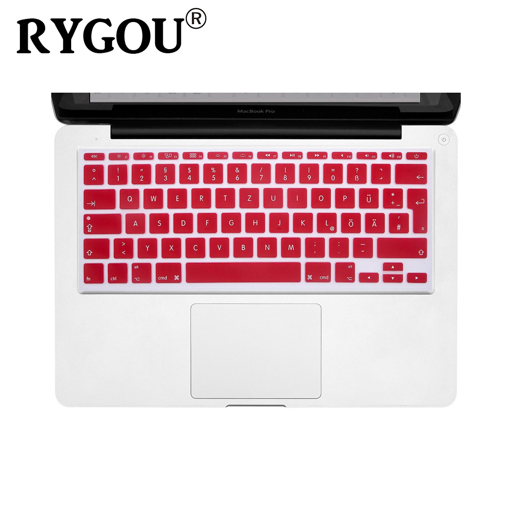 EU/UK European/ISO Layout German Silicone Keyboard Cover Protective ...