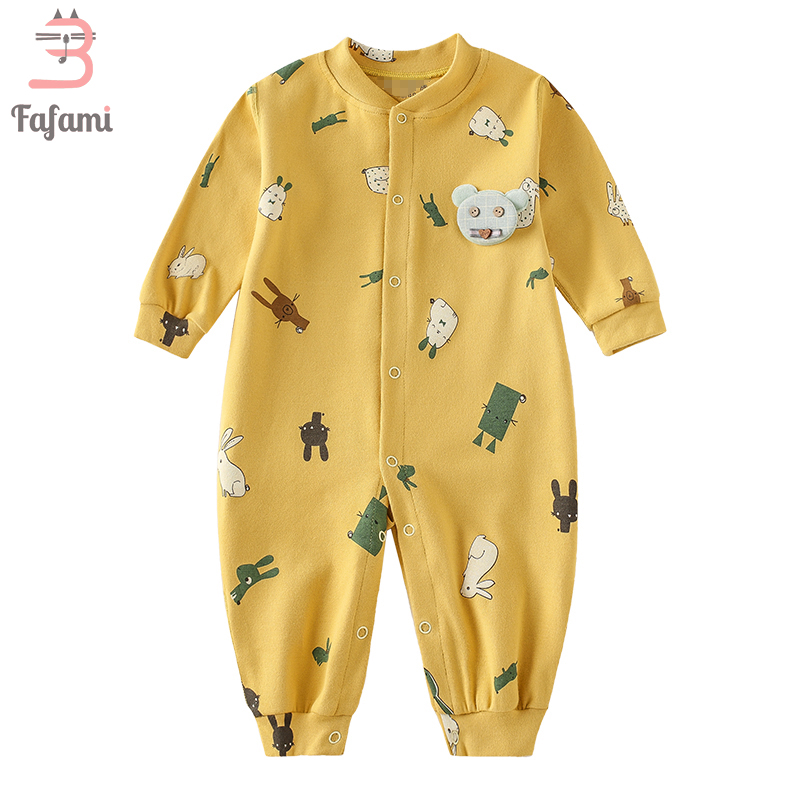 Baby   Rompers   Cotton Printed Halloween Newborn Baby Clothes Single Breasted Full Sleeve Baby Clothing Overalls for New Born