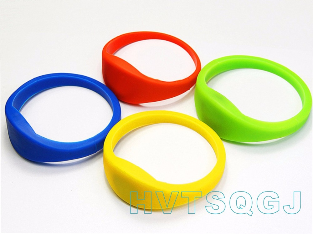500pcs Waterproof Silicone RFID wristband with 1K S50, ISO14443A, Frequency: 13.56MHz (HF), Free Shipping
