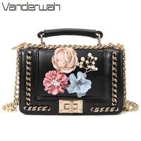 4398d00484692 2018 New Floral Luxury Messenger Bags Women Chains Flap Bag Ladies Fashion  Lock Shoulder Bags Female