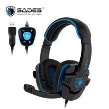 SADES WOLFANG Virtual 7.1 Surround Sound Gaming Headphones Rotatable Microphone Headband PC headphone Headset for Gamer