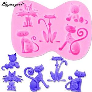 Эпоксидная УФ-Резина Byjunyeor F1211, силиконовые формы для котят и кошек, инструменты для украшения торта