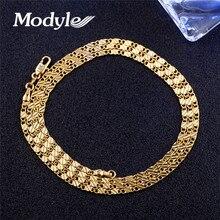 Mostyle горячая распродажа Новое 2 ММ золотого цвета мужское ожерелье 40-75 см цепочка Ювелирные изделия