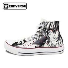 Men Women Converse All Star Canvas Shoes Vampire Knight Kaname Kuran Design Hand Painted Shoes High