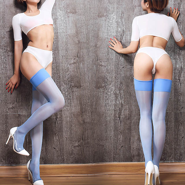 d3f10f0a8b0db Sexy Nylon Stockings Thigh High Socks Women Summer Over The knee High Socks  Plus Size Stocking
