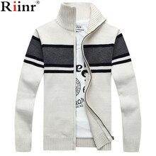 Riinr Fashion New Arrival Sweater Men Brand Autumn & Winter Warm Long Sleeve Knitting Zipper Cardigan Masculino Men's Sweaters