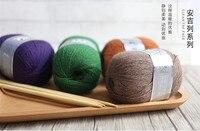 Miễn phí Vận Chuyển 300 gam (50 gam * 6 cái) Chồn Cashmere Sợi Cho Tay-Dệt Kim Crochet Mỏng chủ đề Tốt Mặc Trong Mùa Đông B