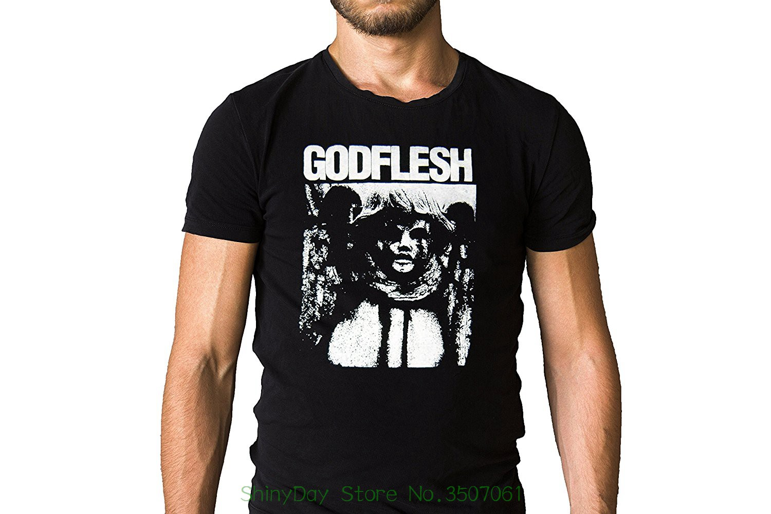 O Neck Shirt Plus Size T-shirt Godflesh Industrial Metal Band Pure 1992 Mothra Song Inspired Black T-shirt