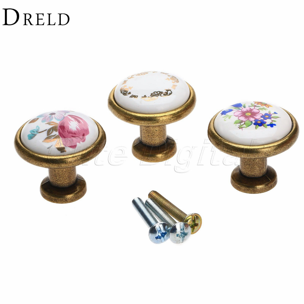 Antique Brass Kitchen Door Knob Furniture Drawer Knob Wardrobe Cupboard Pull Handle Pulls Decorative cabinet knobs and handles luxury gold czech crystal round cabinet door knobs and handles furnitures cupboard wardrobe drawer pull handle