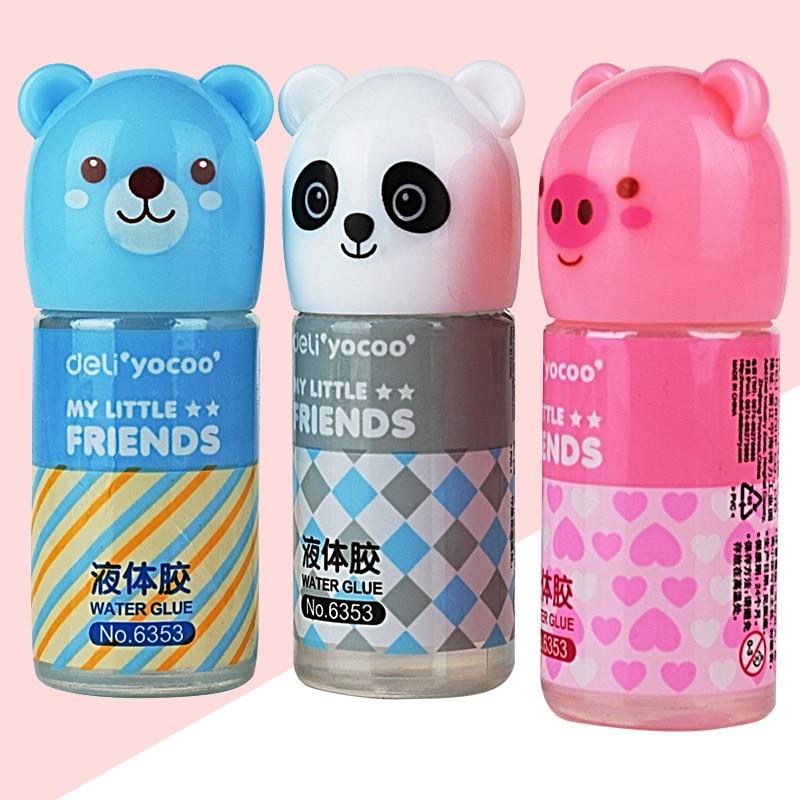 35ml Cute Kawaii Cartoon Bear Panda Plastic Liquid Glue For Kids Gift Korean Stationery Student