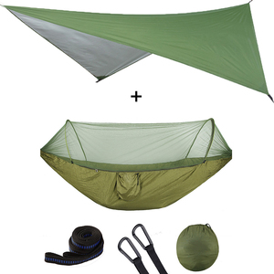 Image 2 - Outdoor Pop Up Netting Hammock Tent With Waterproof Canopy Awning Set  Automatic Quick Opening Mosquito Free Hammock Portable
