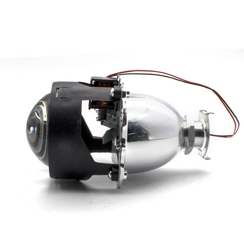 2.5 pouces bixenon projecteur lentille + masque linceul avec double ange yeux pour voiture HID phare projecteur lentille pour H1 H7 H4 - 5