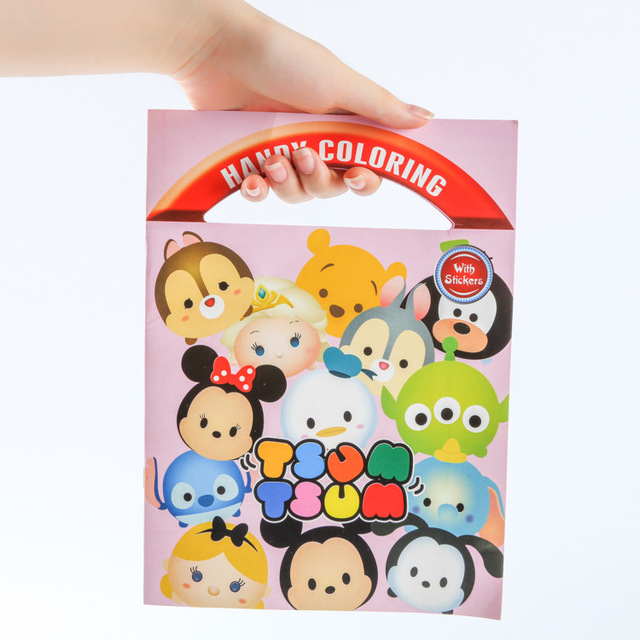 10 pcs/lot Tsum Tsum Minnie Mickey Winnie Dumbo coloring book ...
