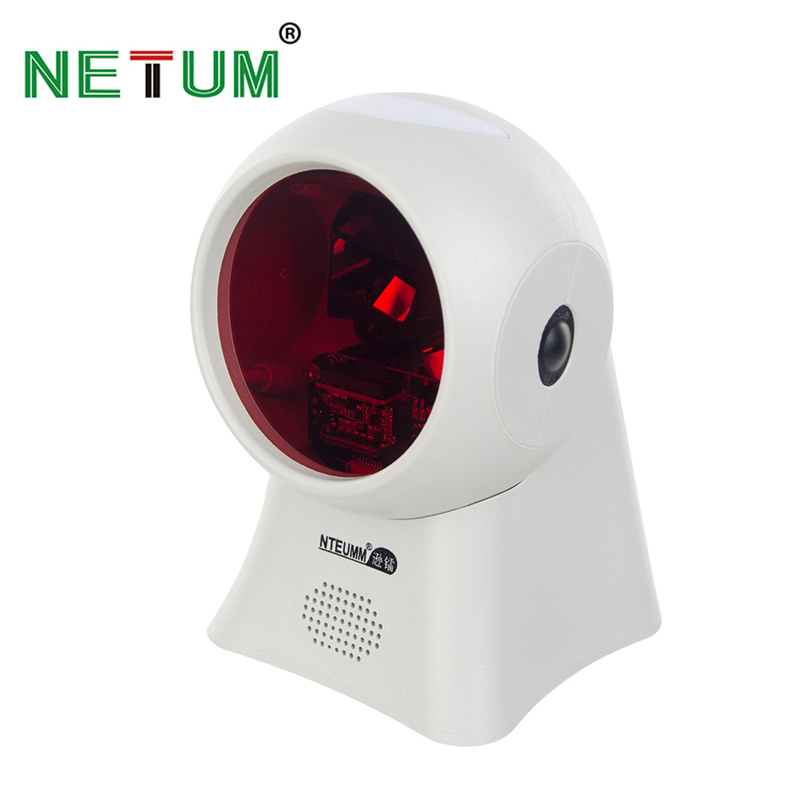 NETUM High Quality Laser Flatbed Barcode Scanner 20 Lines Desktop Omnidirectional Bar code Reader for Retail Store/Supermarket high quality omnidirectional multi line laser barcode scanner yk 8120 20 scan lines with usb2 0 free shipping for pos usb