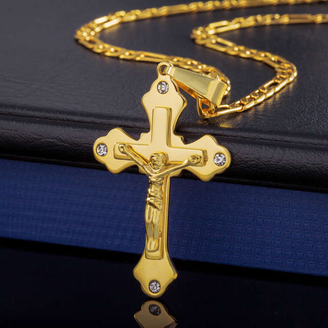 Free shipping,  gold plated pendant necklace, high quality rhinestone pendant necklace jewelry wholesale men and women