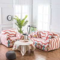 TUTUBIRD Custom Stretch Fabric Sofa Sets Pink Fish Four Seasons Universal Stretch Couch Cover Slipcover For