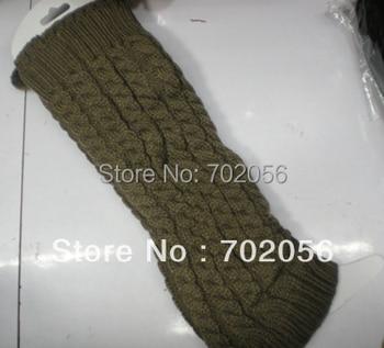 Winter Knit twist pom poms Crochet Acrylic Leg Warmers Boot Covers 24 pairs/lot #3405