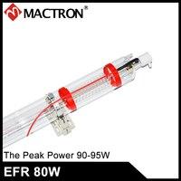 Высокое качество 1250 мм Длина 80 Dia EFR/SP/Yongli 80 Вт Co2 лазерной трубки для лазерной гравировки резки машина с 8 месяцев гарантии