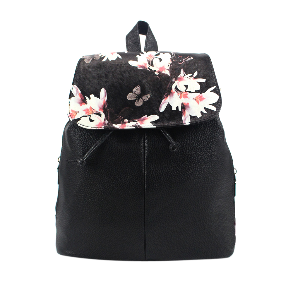 2019 New Floral Printing Backpack Women Fashion Causal Backpack Girls PU Leather Shoulder Bag School Bag Ladies Travel Rucksack2019 New Floral Printing Backpack Women Fashion Causal Backpack Girls PU Leather Shoulder Bag School Bag Ladies Travel Rucksack
