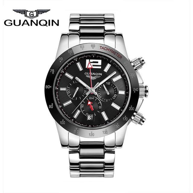 Top Luxury Brand Men Sports Watches GUANQIN Military Watch Relogio Masculino Clock Men Sapphire Luminous Men's Dive Watch