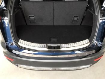 Bota traseiro Trunk Bumper Guard Sill Protector Placa Tampa de Moldagem de Aço Para Mazda CX-9 2017 2018 acessórios do carro
