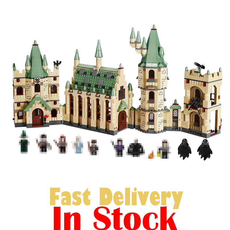 LEPIN 16030 Hogwarts Castle Classic Movie Building Blocks Bricks Toys For Children brinquedos 1340pcs Compatible legoINGly 4842 lepin 16030 1340pcs movie series hogwarts city model building blocks bricks toys for children pirate caribbean gift