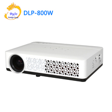 DLP 800W Mini led font b projector b font 3D 1080p Full HD font b projector