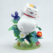 13cm Funko pop Japanese Cartoon Comics Cat Style Toy Anime Model Dolls figma Lovely Cute with flower Action Figure World. GH611