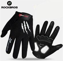 RockBros Winter Touch Screen Breathable Full Finger Cycling font b Gloves b font Men Women MTB
