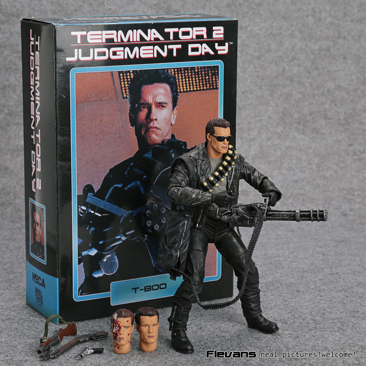 NECA Terminator 2: Judgment Day T-800 Arnold Schwarzenegger PVC Action Figure Collectible Model Toy 7 18cm free shipping neca the terminator 2 action figure t 1000 galleria mall figure toy 718cm mvfg037