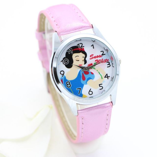 Mary cat white snow princess fashion watch Kids Children Watch 3D wristwatch Xma