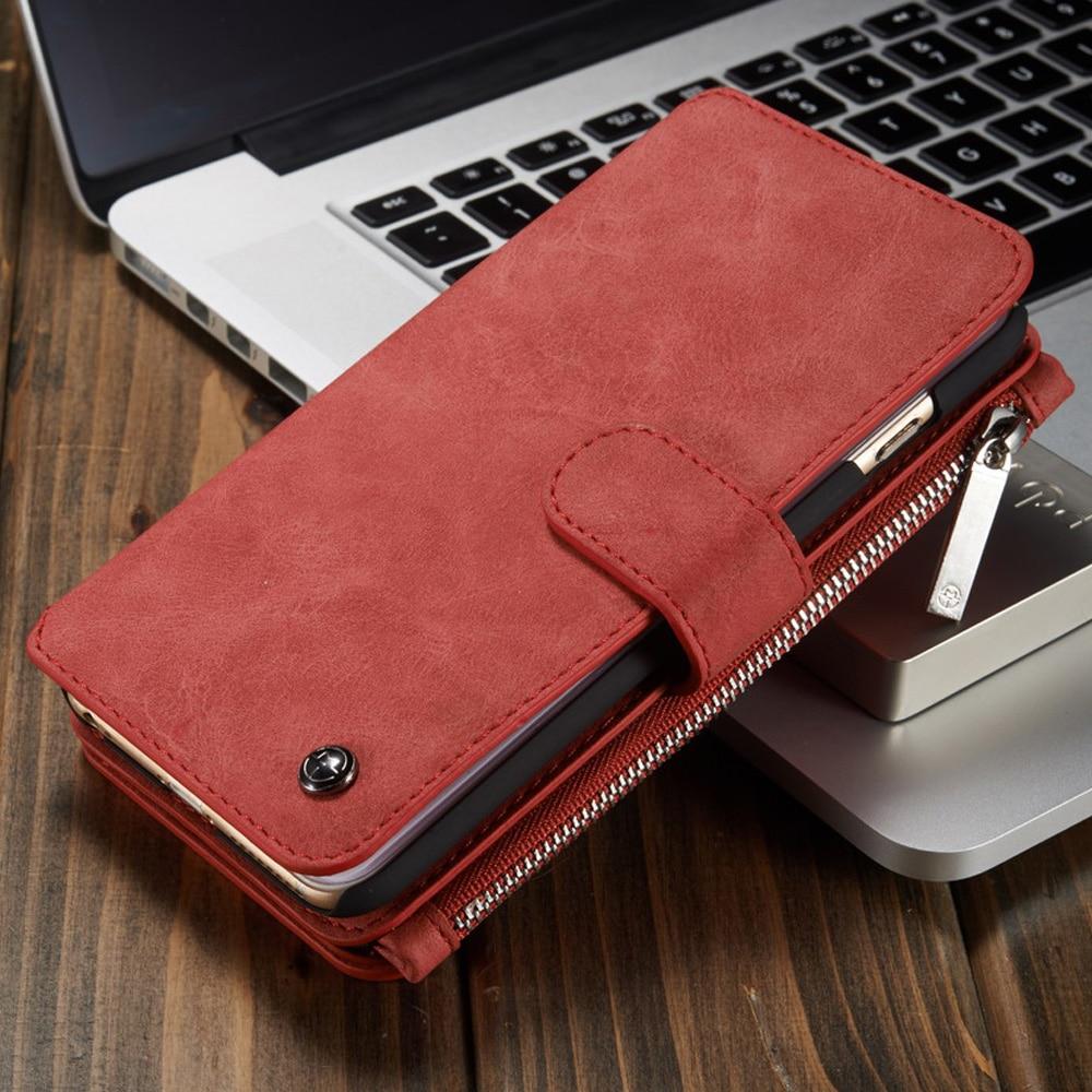 Для Apple iPhone 6 S Чехол роскошные Съемная Folio Магнитная натуральной кожи бумажник крышка Чехол для iphone 6splus 7 плюс 7 6 s 6 5S 5