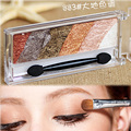 2016 NEW Smoky cosmetic set 6colors with mirror&blush natural wet eyeshadow makeup palette Naked Nude Eye Shadow glitter