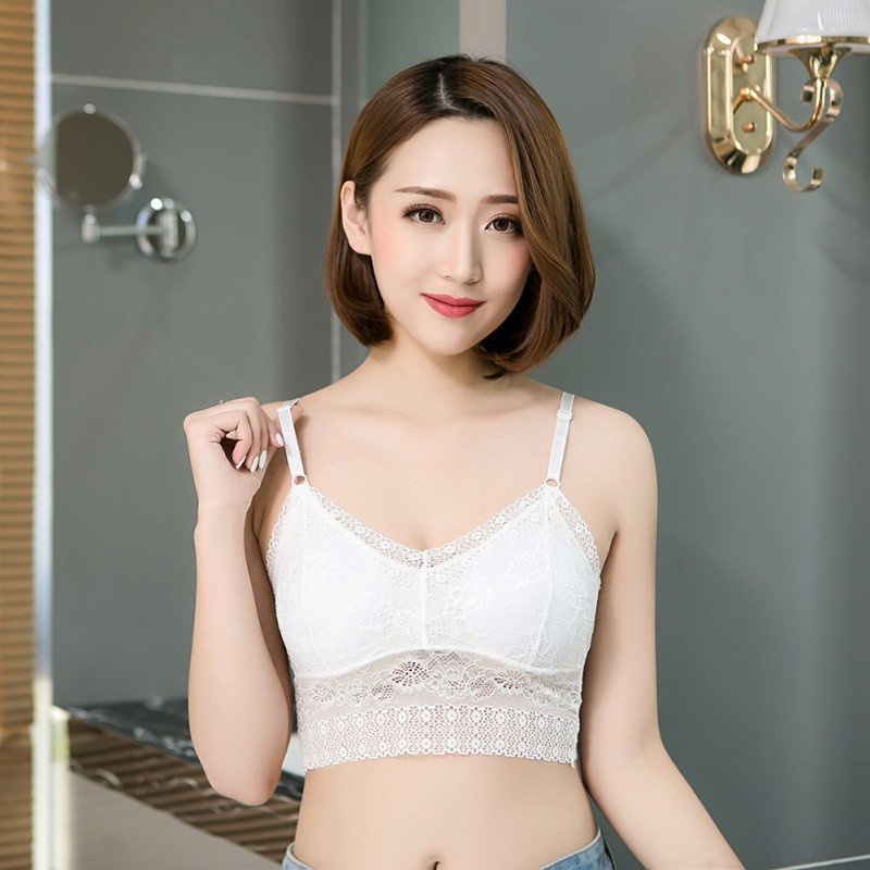 Brand New Women Fitness Underwear Lace Bra Bralette Top Women Sexy Chest Padded Tank Tops