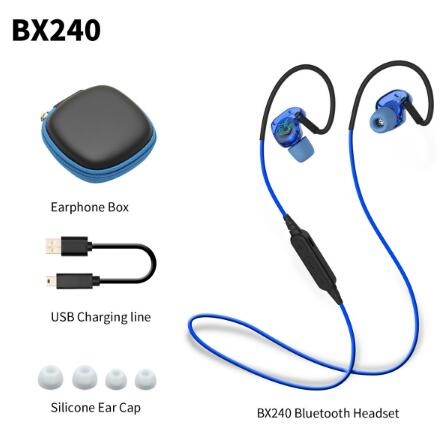 2017 PLEXTONE BX240 Wireless Bluetooth Headset IPX5 Waterproof Headphones Sports Running Stereo Earpiece With Mic for phones k10 handsfree bluetooth headset wireless stereo bluetooth headphones earpiece for driver with carrying box