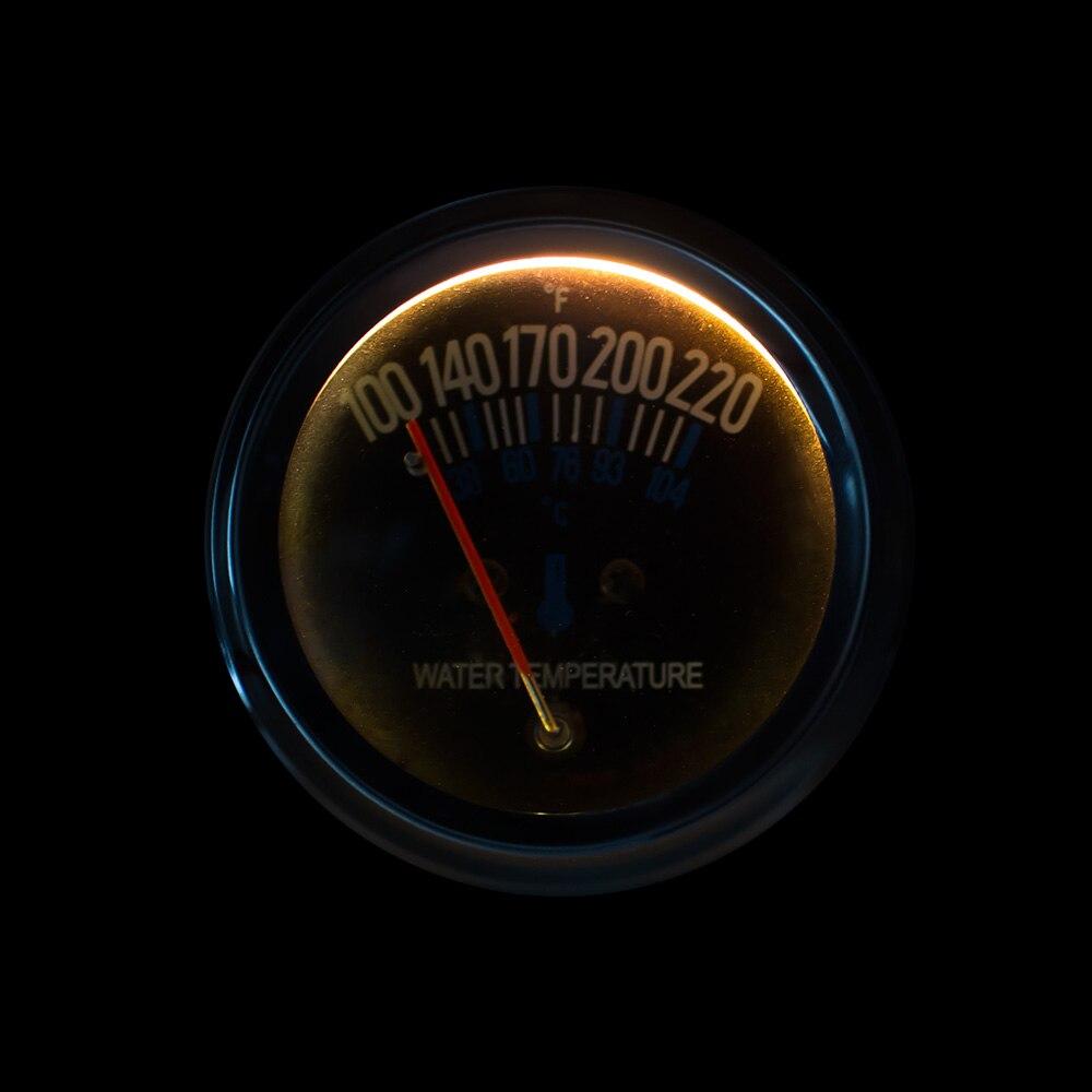 2 inch 52mm 12 V DC Listrik Mekanik Mobil Suhu Air Gauge Water Temp - Suku cadang mobil - Foto 5