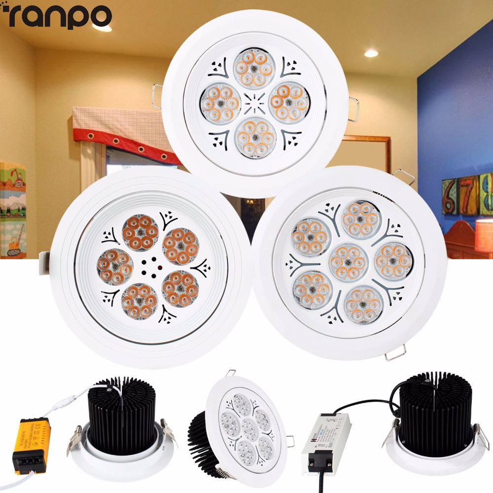 1Pcs 30W 35W 40W 220V LED Ceiling Downlight Recessed LED Wall Lamp Spot light With LED Driver For the Mall 7 30w led vertical recessed downlight with isolated driver ac100 240v to replace traditional canister light 18pcs lot promotion