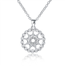 Manufacturing unit worth top of the range Silver Plated Stamped 925 spherical hole star pendant stone necklace for ladies jewerly wholesale