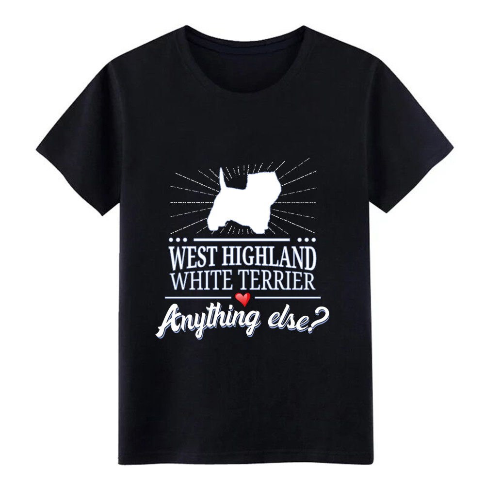 Men's West Highland White Terrier t shirt Design 100% cotton Euro Size S-3xl Outfit Anti-Wrinkle New Style Spring Outfit shirt