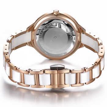 GUANQIN 2018 watch Women dress ladies watch waterproof Quartz Wrist watches Ceramic zegarek damski fashion Gold relogio feminino