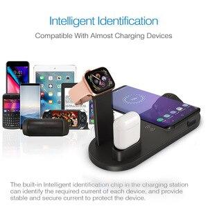 Image 2 - Беспроводное зарядное устройство 4 в 1, подставка для iPhone 11, 8, XS, XR, Apple Watch, Airpods Pro, 10 Вт, Qi, быстрая зарядка, док станция для Samsung S10, S9