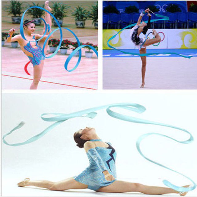 414058006 Fita dança Ginástica Rítmica Arte Ginástica Ballet Streamer Rodopio Rod 8  Cores 4 M