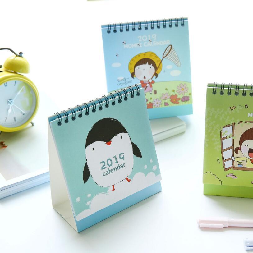 Calendars, Planners & Cards 2019 Cute Cartoon Desktop Paper Calendar Multi-function Timetable Plan Notebook