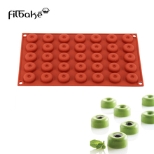 FILBAKE 3D DIY 35 With Small Round Hole - Brown Red Silicone Chocolate Molds Baking Room Cake Molds Of Silicone Tools aya small round leaf cake molds
