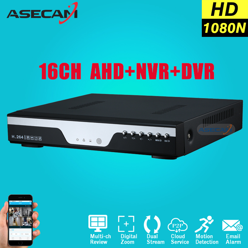 16CH 1080N AHD DVR For Security Camera 16 Channel Onvif 1080P IP NVR Network CCTV H.264 Video Recorder Surveillance P2P ipcam free shipping h 264 ahd cctv dvr 16 channel security camera system stand alone hdmi d1 video surveillance digital video recorder