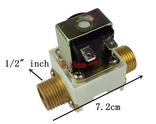 Aliexpress hot sale 4 PCS free shipping Solenoid valve 1/2