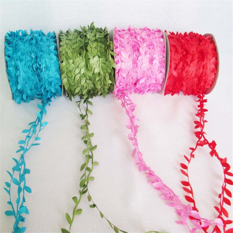 1M/lot 6 Colors Artificial Flowers Vine /Rattan DIY Home Decorative Flowers & Wreaths Accessories Event Party Supplies