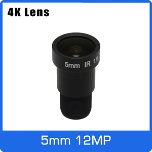 Image 1 - 4 k lente 12 megapixel fixo lente m12 5mm 110 graus 1/1.7 polegada para imx226 imx178 4 k ip cctv câmera ou câmera de ação 4 k